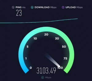 speedtest 10gb freebox delta fibre languedegeek