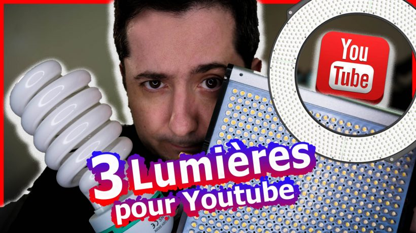 lumiere devenir youtuber eclairage softbox ringlight filmer camera